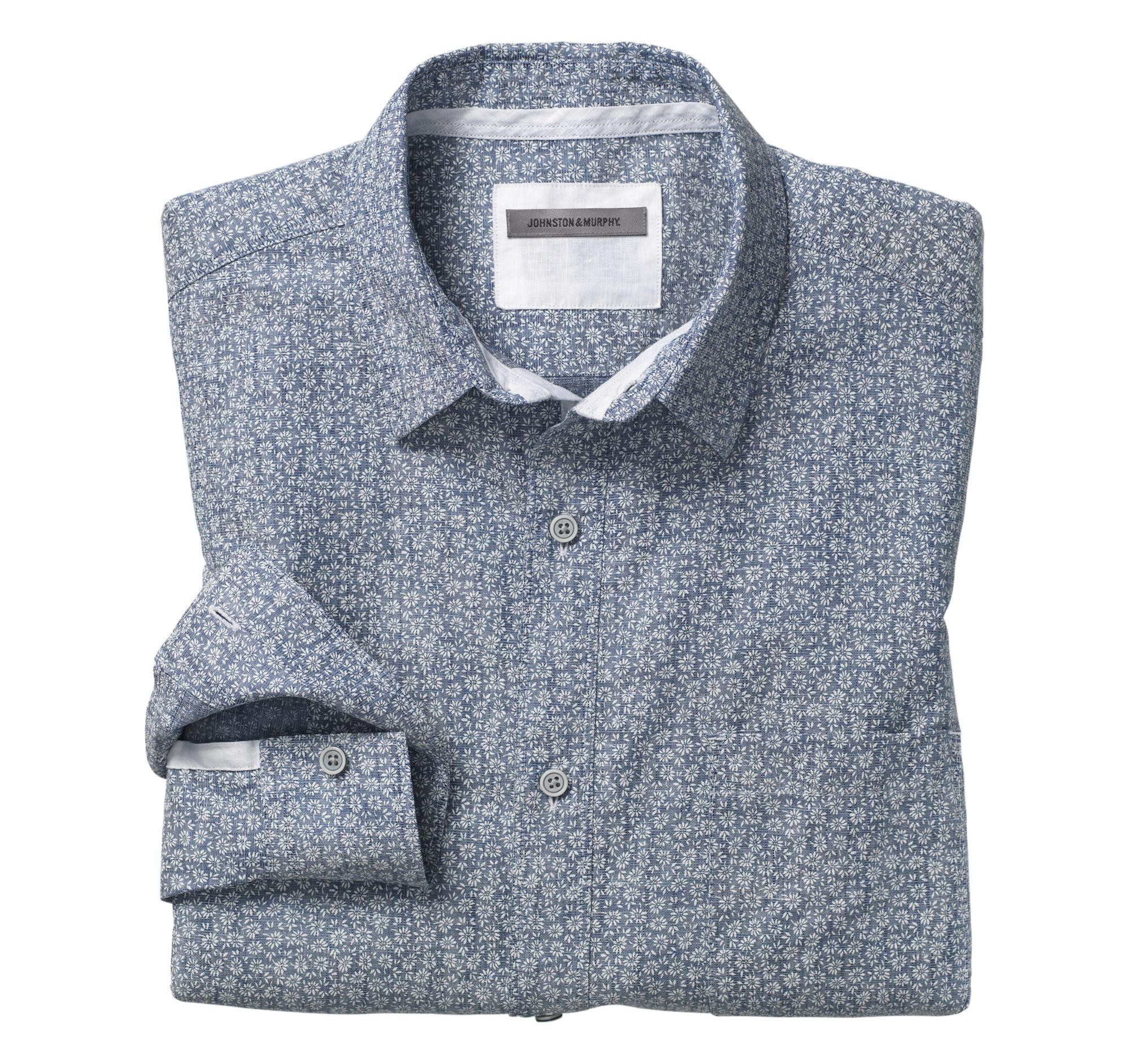 Washed Linen Shirt Johnston Amp Murphy