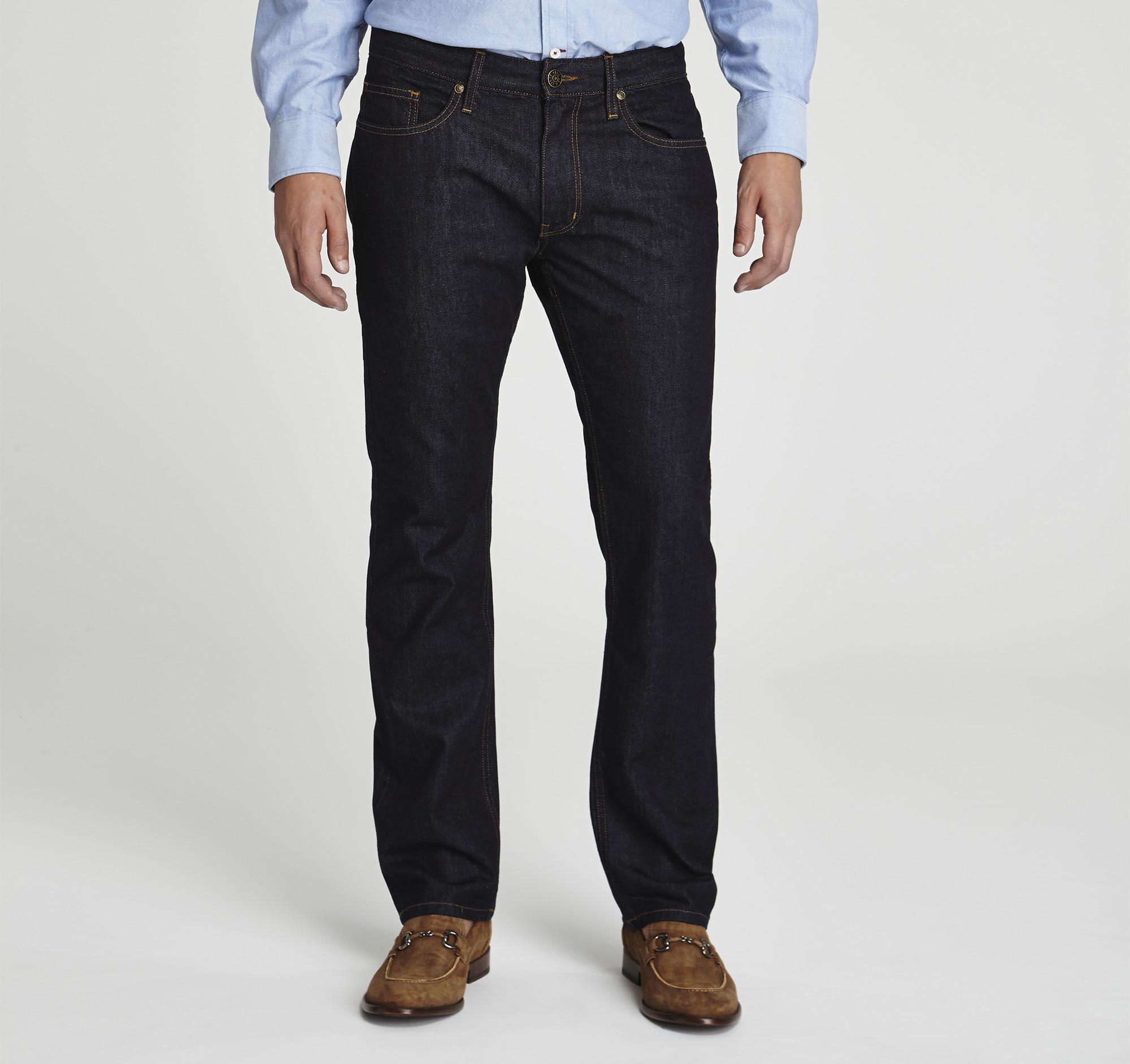 slim fit denim jeans | johnston & murphy