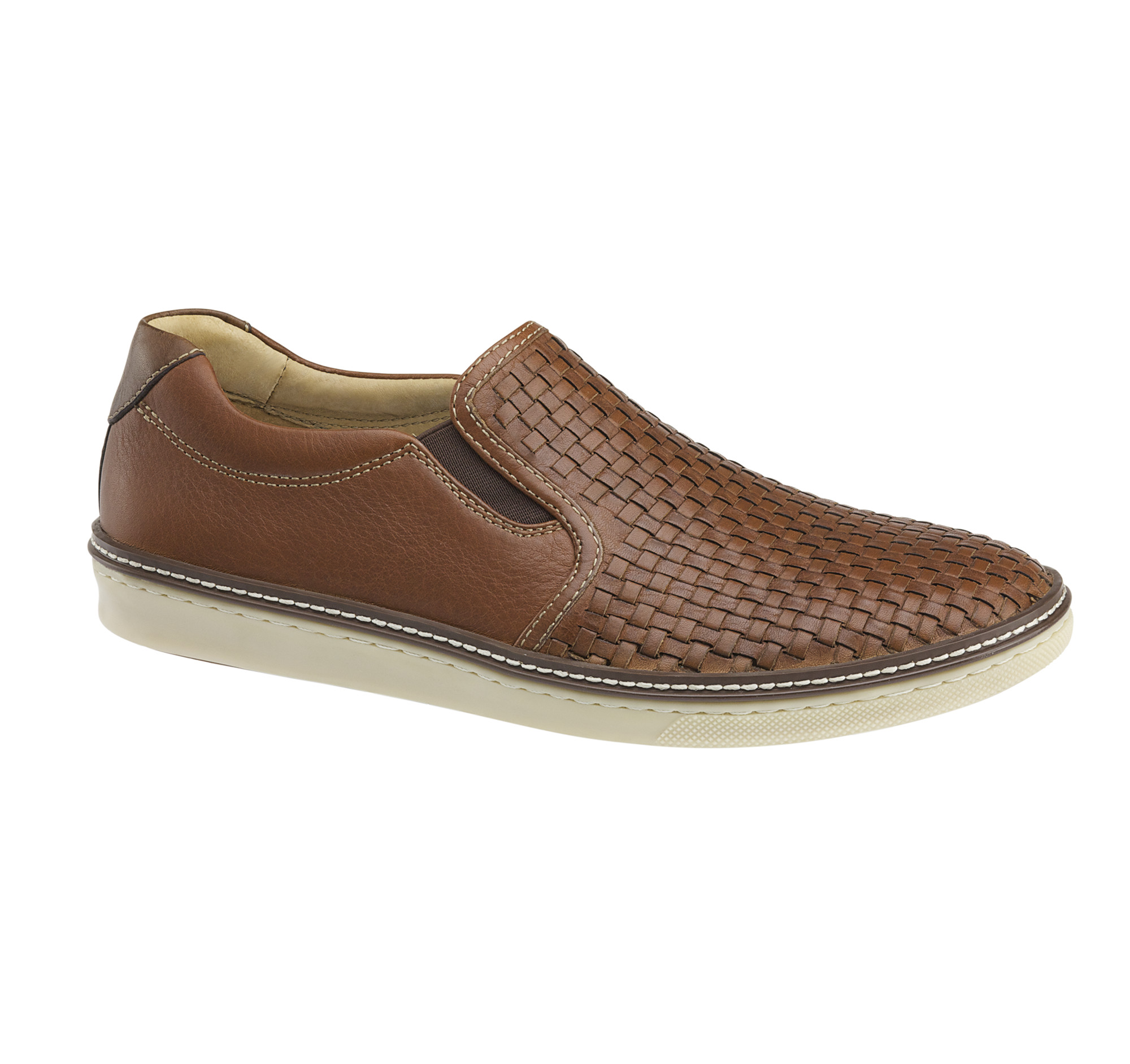 Johnston & Murphy Men's Mcguffey Woven Slip-On Sneaker IvXcg