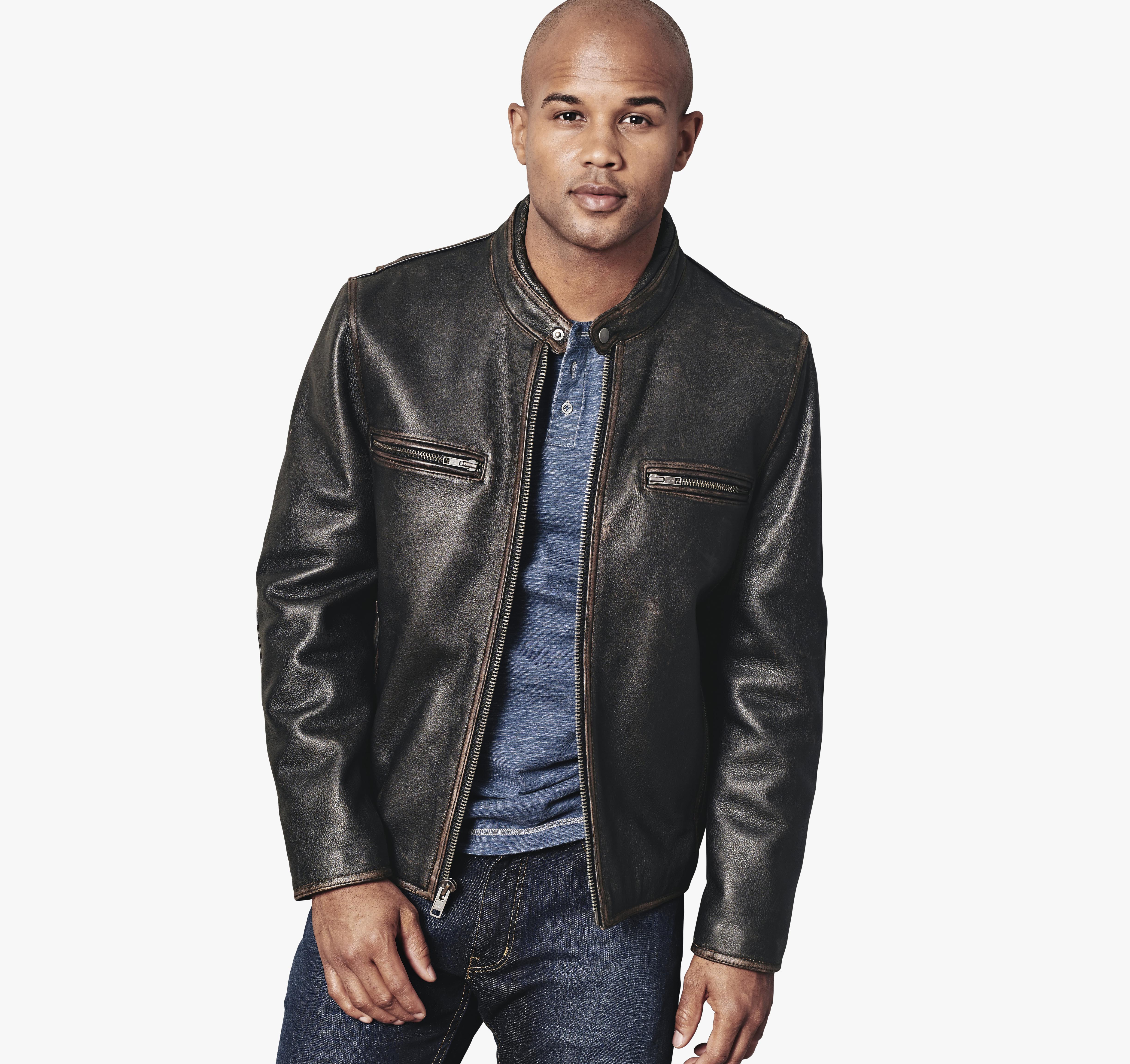 store rugged leather detail cinch htm pc jacket jeans rug