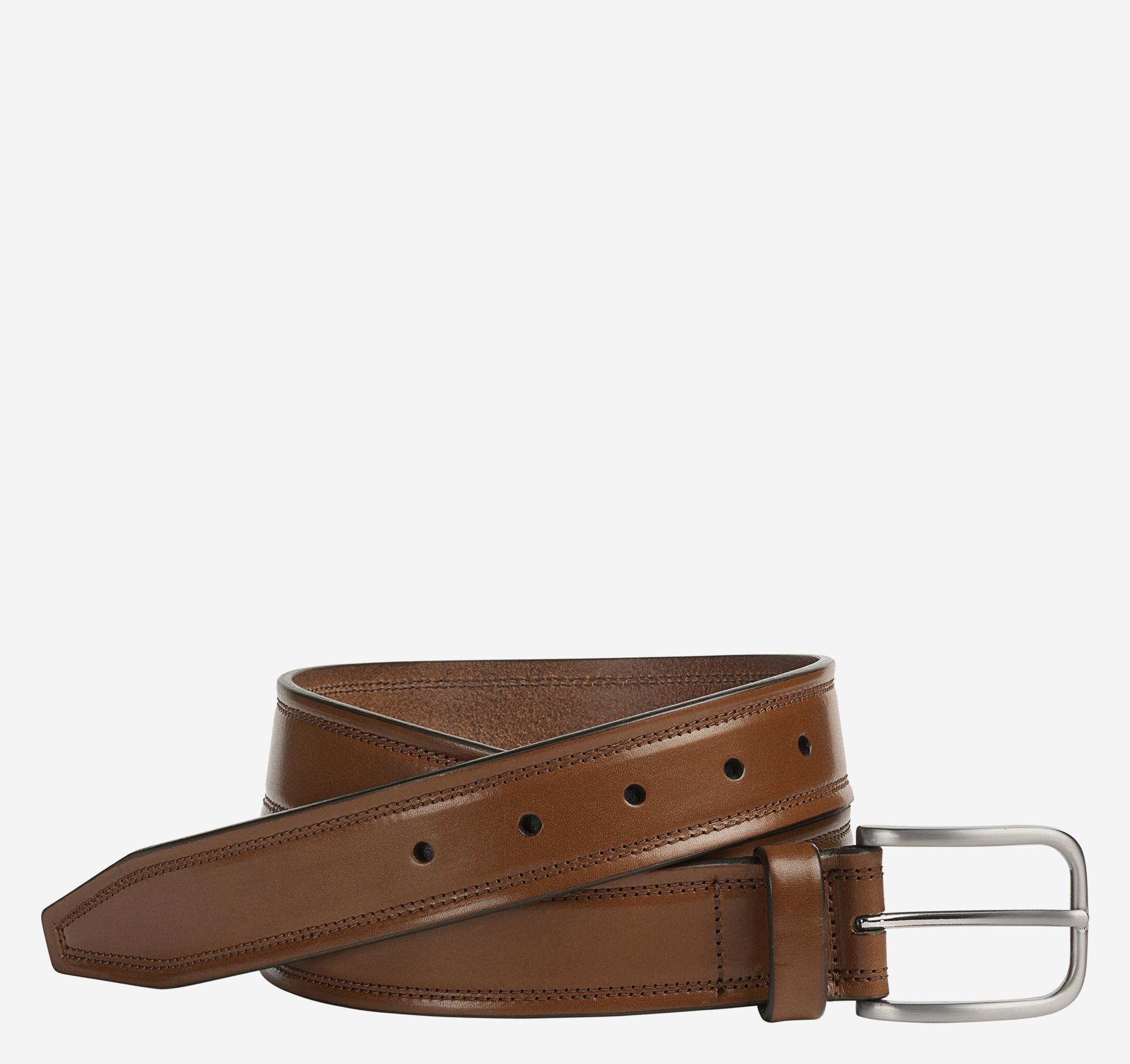Johnston & Murphy Double Self-Stitch Belt