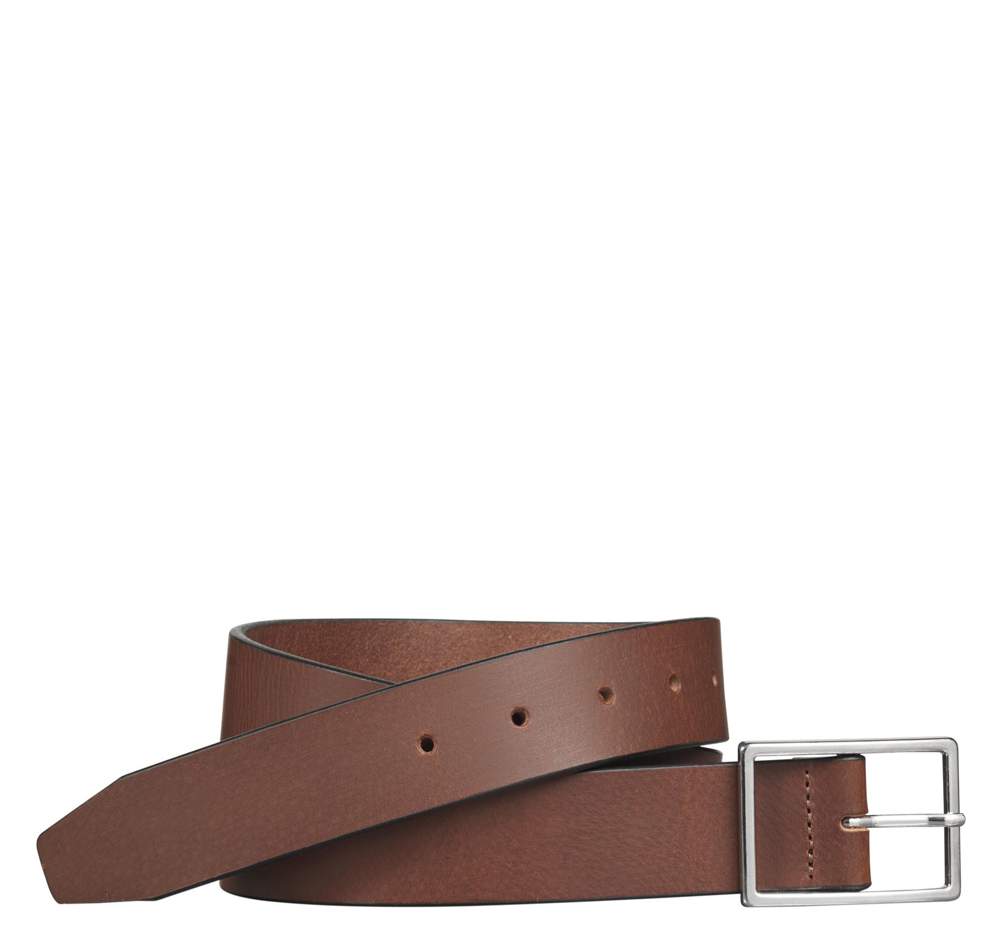 Johnston & Murphy Polished-Nickel Buckle Belt