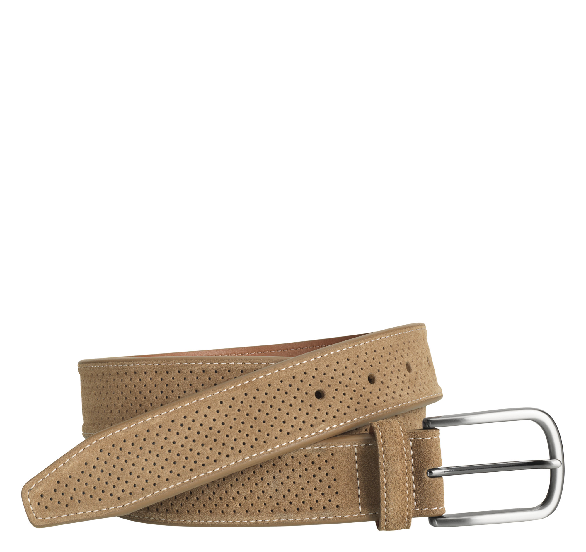 Johnston & Murphy Perfed Suede Belt