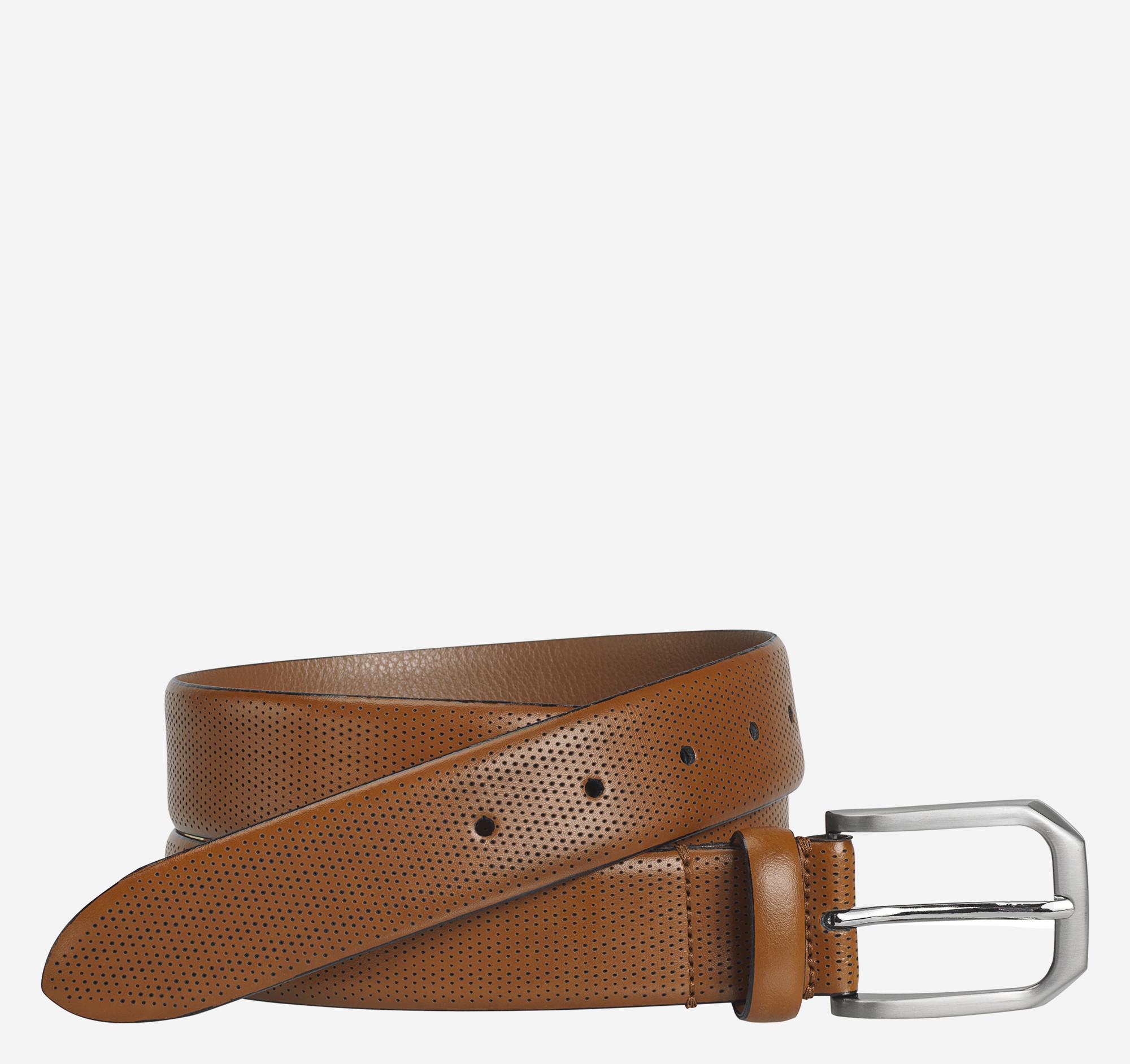 Johnston & Murphy Micro Perf Belt