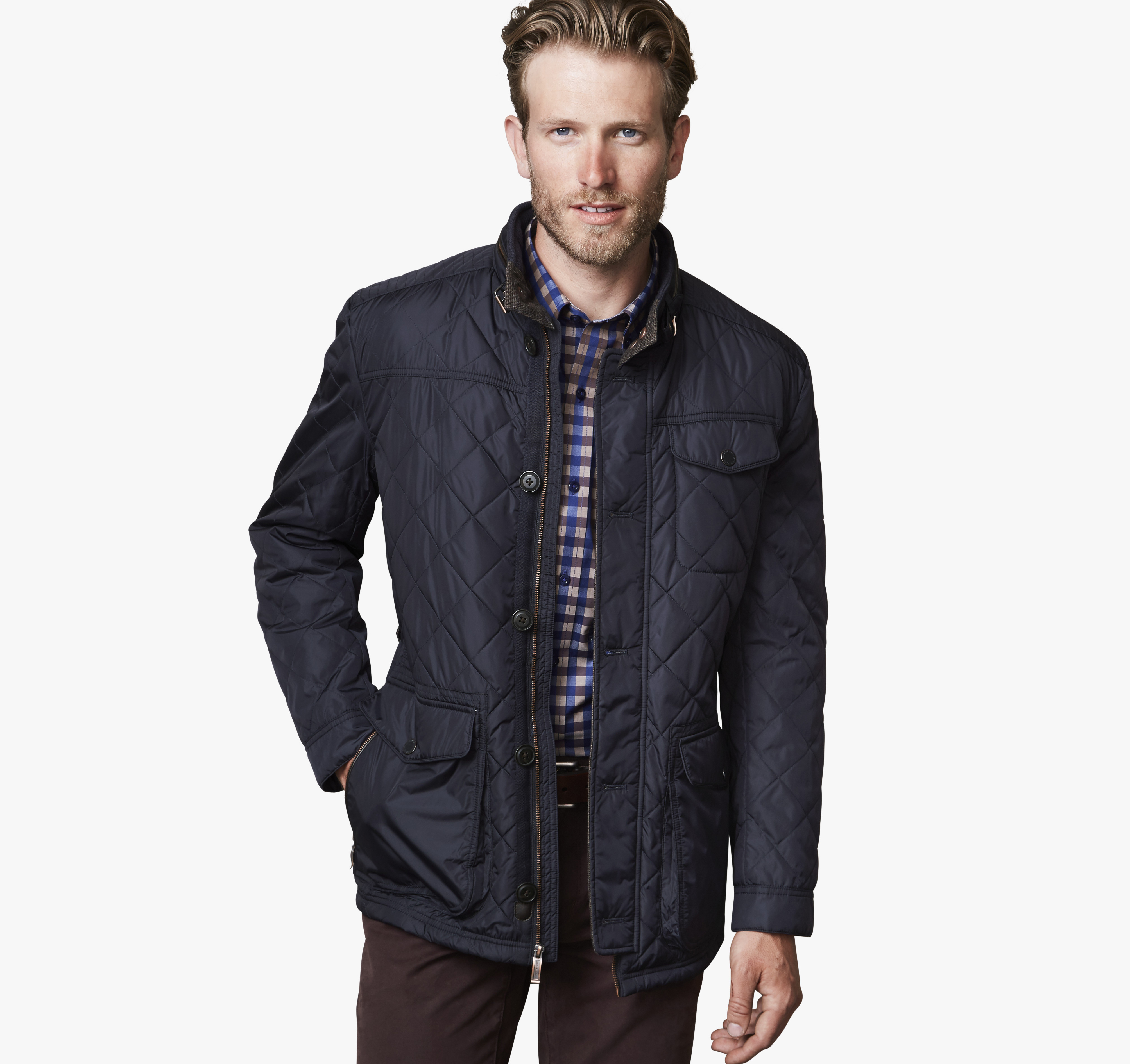 Johnston murphy leather jacket