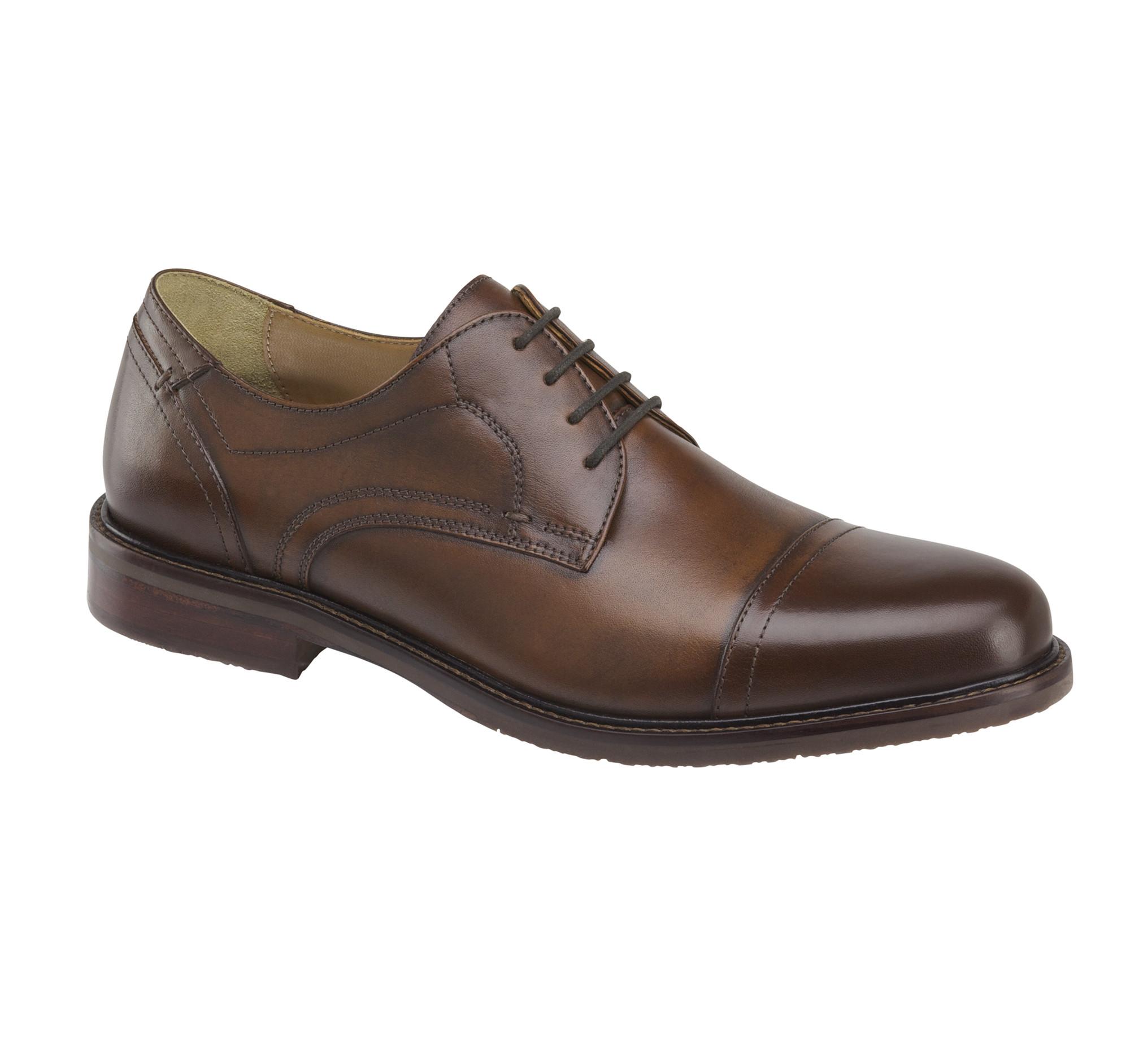 Johnston & Murphy Ramsey Cap Tan Shoes vovyB