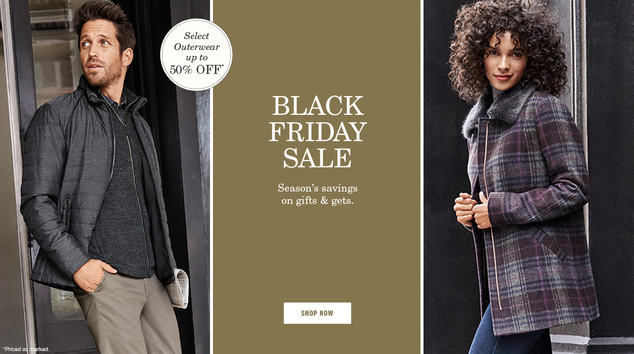 Black Friday Sale Outerwear Up to 50% Off