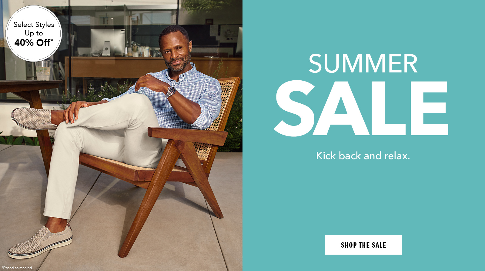 Take a Leisurely Approach - Shop Men's Summer Sale