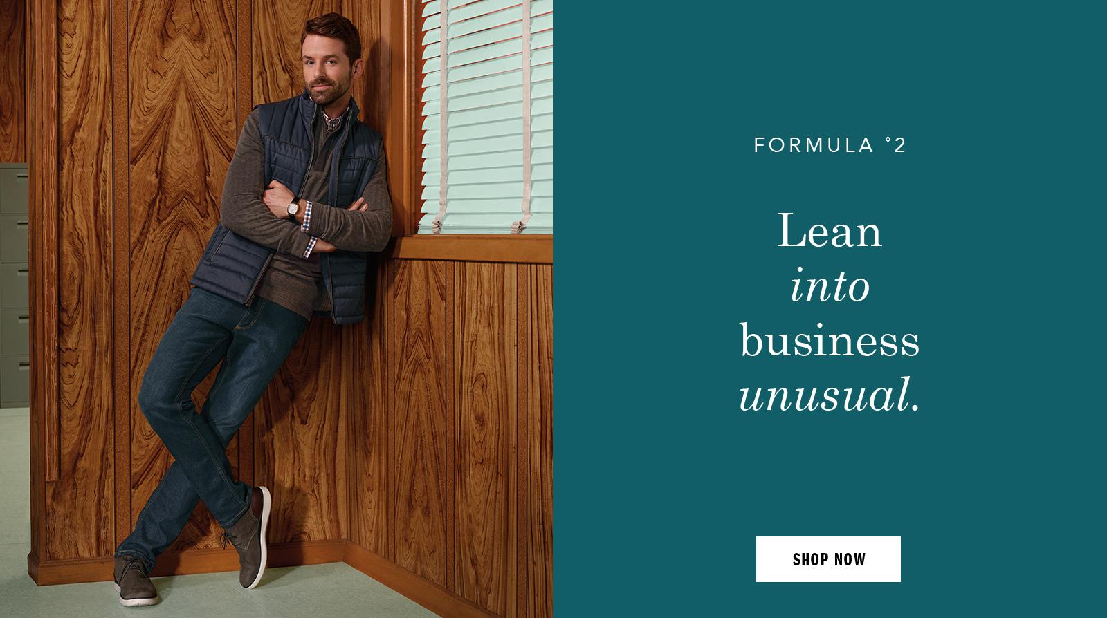 Lean into business unusual - Shop Men Shoes