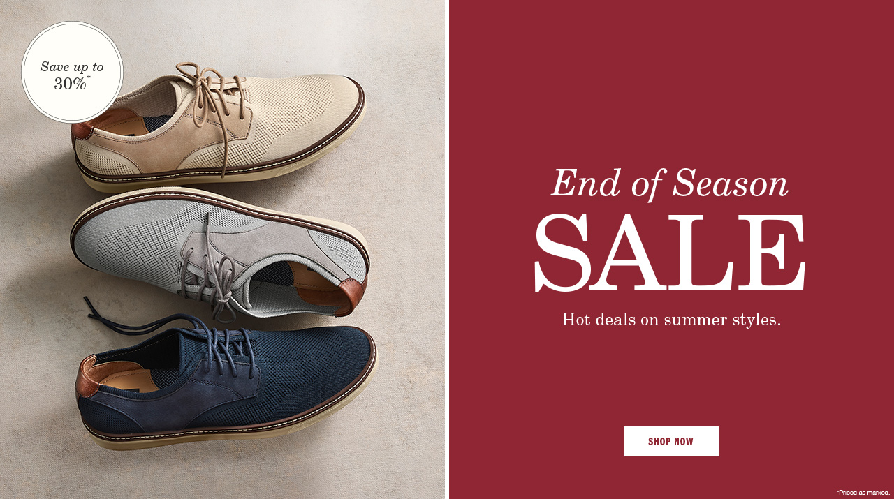 End of Season Sale - Shop Now