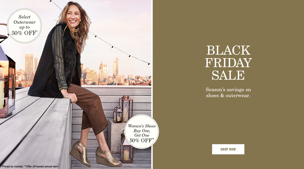 Black Friday Sale Women's Shoes Buy One, Get One 50% Off
