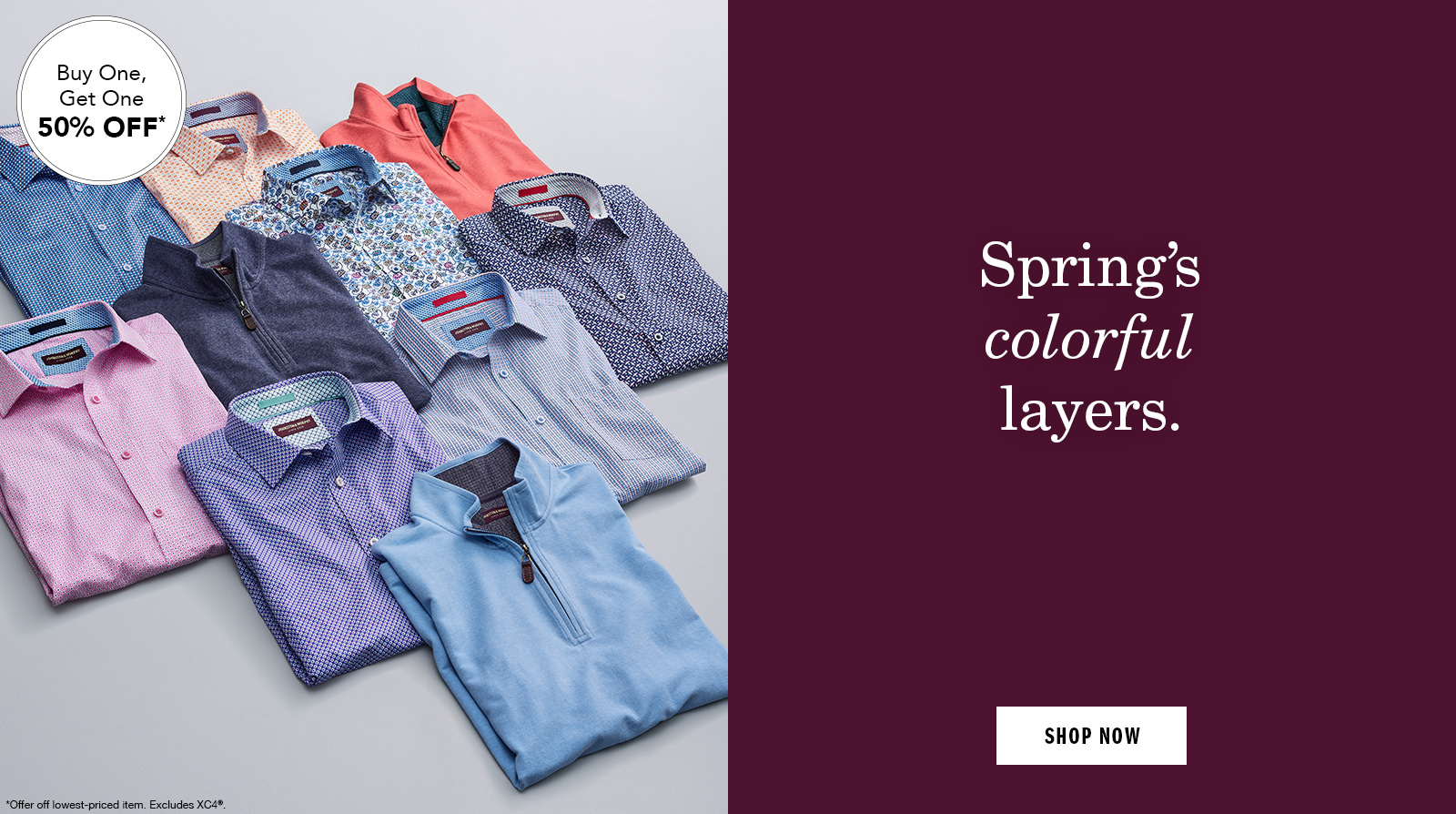 Spring's colorful layers - Shop Men's Shirts and Sweaters
