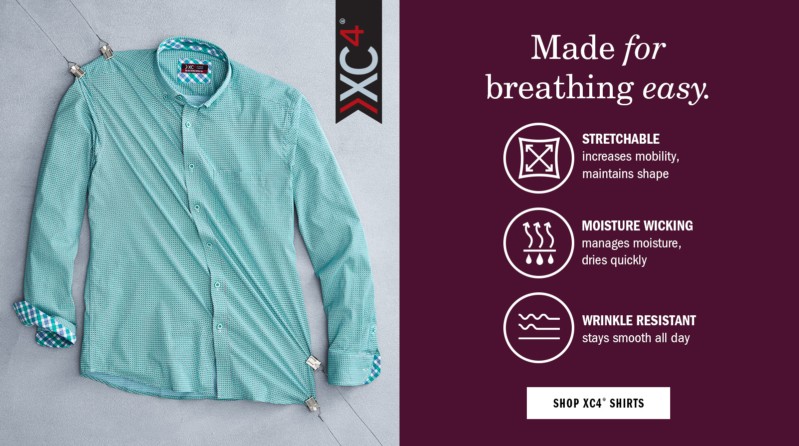 Made for Breathing Easy - Shop Men's XC4 Shirts