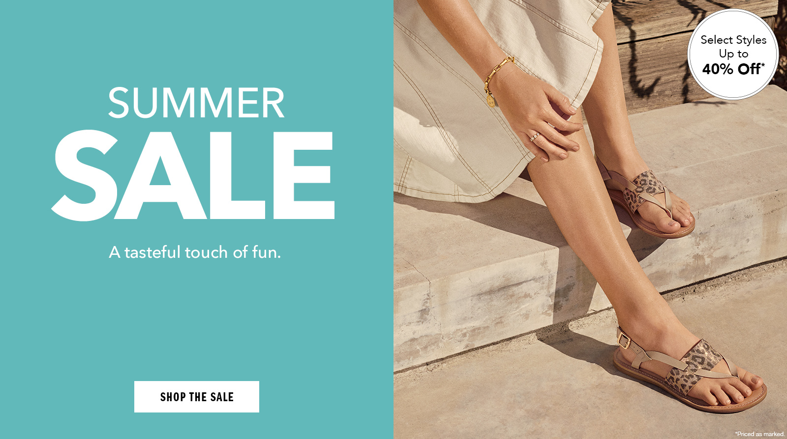A tasteful touch of fun. - Shop Women's Summer Sale