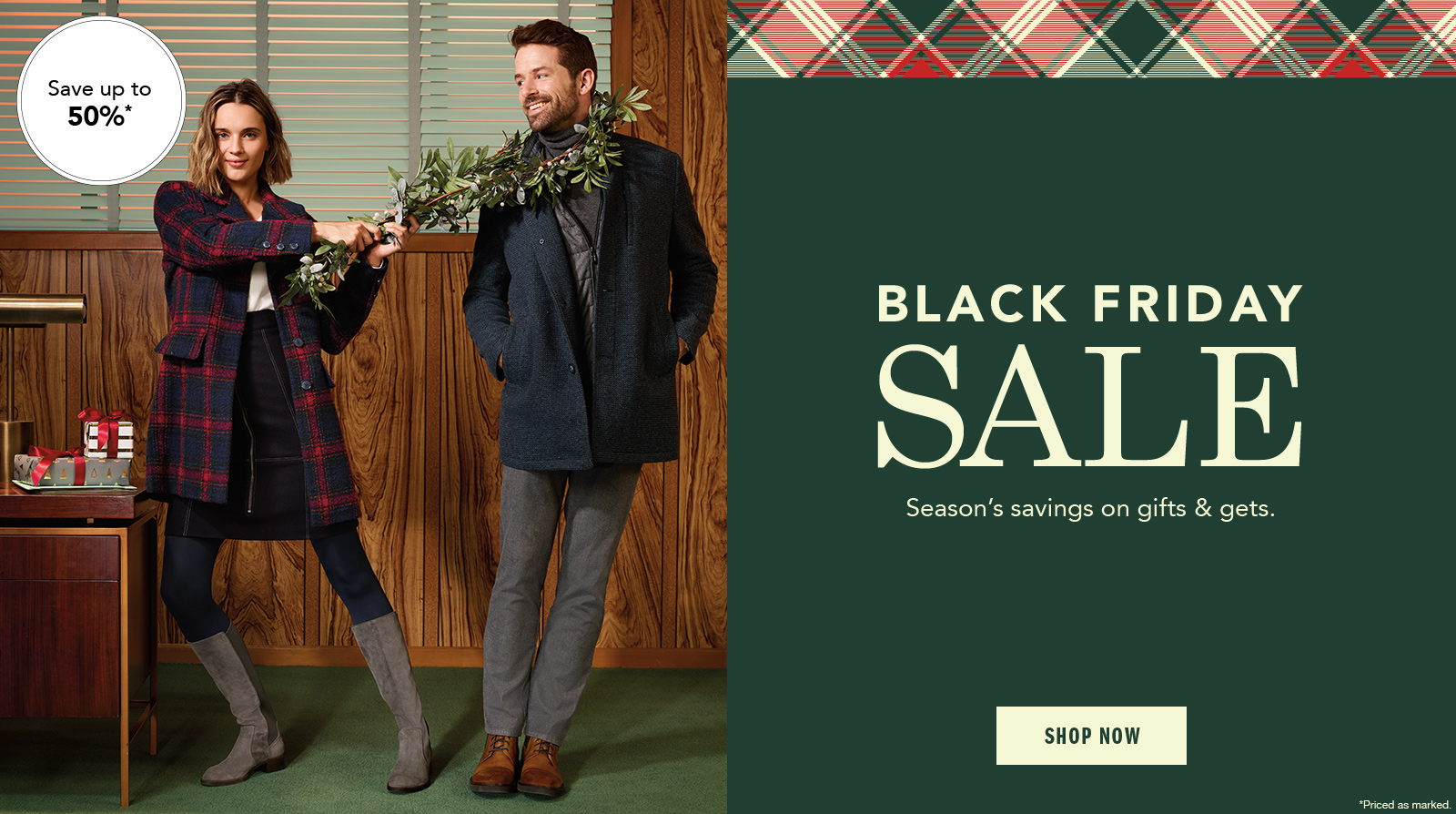 Black Friday Sale Select Shoes Up to 50% Off