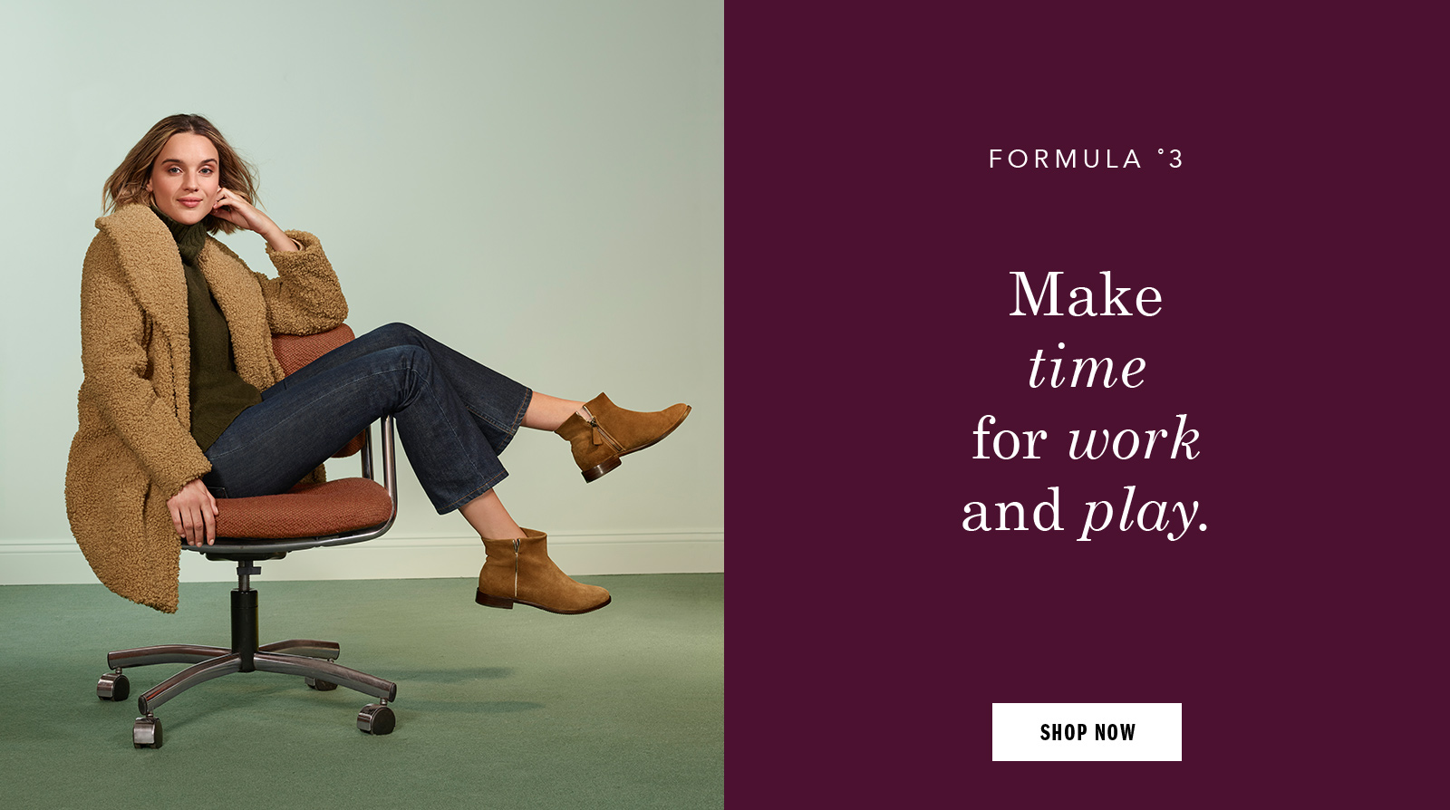 Make time for work and play - Shop Women's Shoes and Apparel