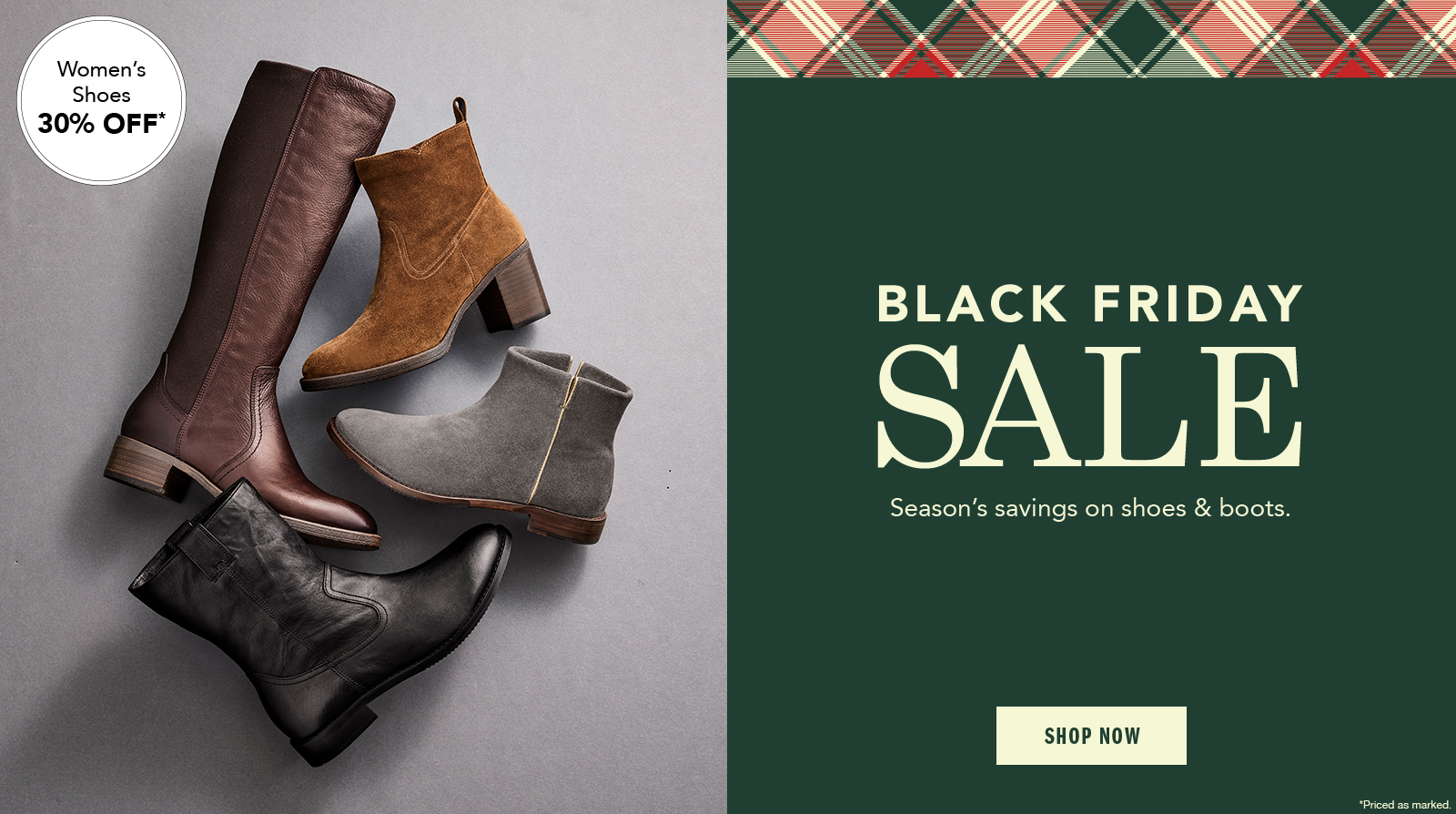 Black Friday Sale Women's Shoes 30% Off