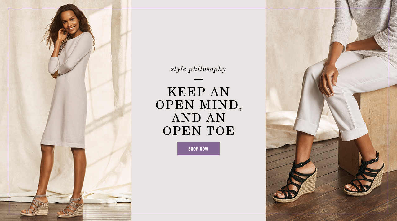 Keep an Open Mind- Shop Women's Shoes