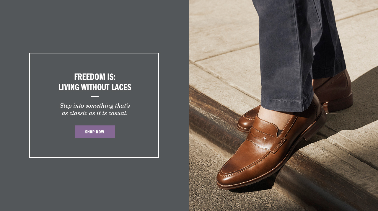 Freedom is Living Without Laces - Shop Men's Slip-Ons
