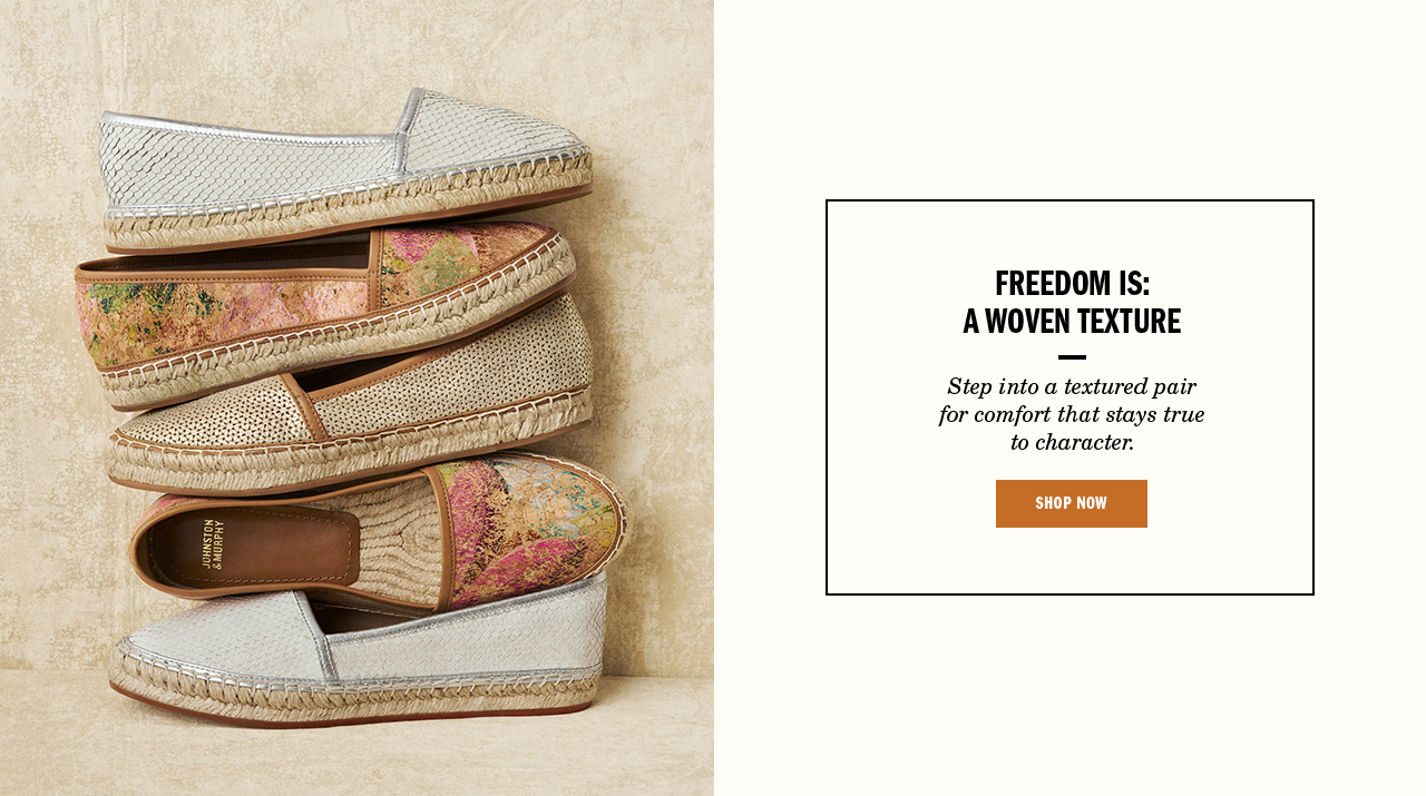 Freedom is a Woven Texture - Shop Women's Flats