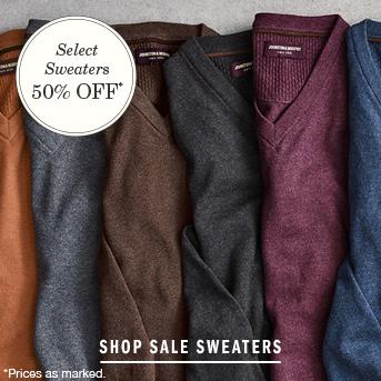 Men's Sweaters 50% Off