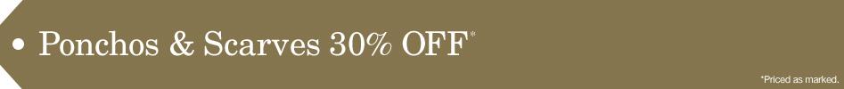 Ponchos & Wraps 30% Off