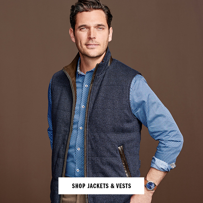 Shop Men's Vests and Jackets