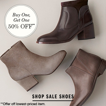 Women's Shoes Buy One, Get One 50% Off
