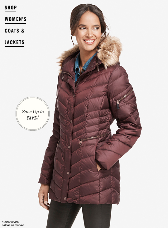 Shop Women's Coats & Jackets Up to 50% Off